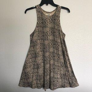 Amuse society leopard print mini dress